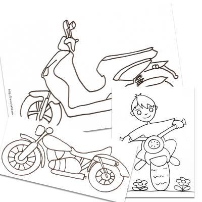 Coloriage motos
