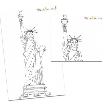 Statue de la liberté, les coloriages de la statue de la liberté