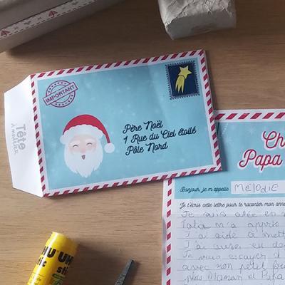 Comme la lettre de Noël, l'enveloppe de Noël est incontournable ! En voici une très jolie à imprimer gratuitement pour aider votre enfant à envoyer sa lettre au Père Noël. Vous n'avez pas besoin de mettre de timbre mais nous vous proposons d'en imprimer é