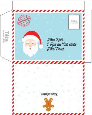 Enveloppes de Noël : Enveloppes de Noël à imprimer pour envoyer sa lettre au Père Noël ou pour envoyer ses voeux de Noël et de nouvel an à tous ceux que l'enfant aime. Certaines envelopp