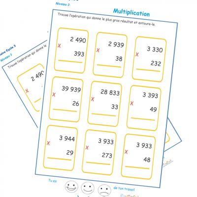 Exercice Sur Le Calendrier Ce2.Multiplications Ce2 Exercices De Multiplication Tete A