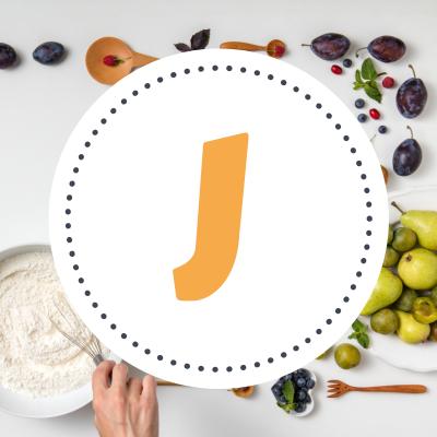 """Sommaire alphabétique des fiches de cuisine commençant par la lettre """"J"""" comme les recettes de jambon. Classement alphabétique des fiches de cuisine de Tête à modeler, une cuisine sim"""