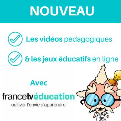 Des vidéos et des jeux en ligne pour apprendre en s'amusant avec francetv éducation