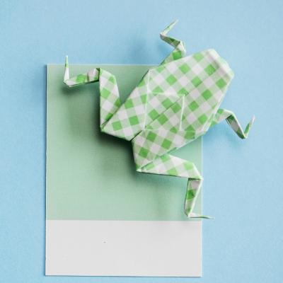 Voici le tuto de la grenouille sauteuse en origami. Découvrez vite comment réaliser un grenouille sauteuse en origami.