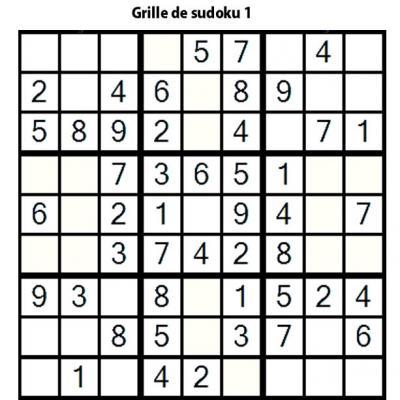 Sudoku de niveau 3 pour les enfants de primaire : grille 1
