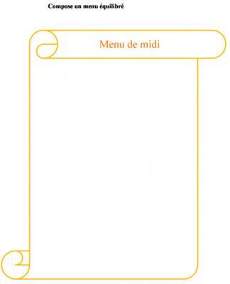 composer un menu