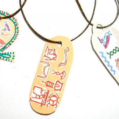 Fabriquer des amulette egypteinnes