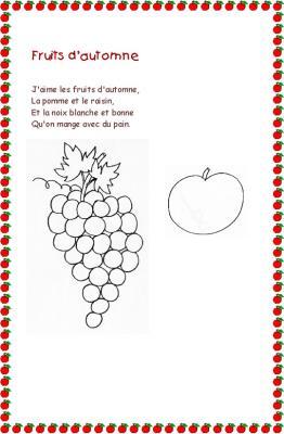 """Poésie """" fruits d'automne """""""