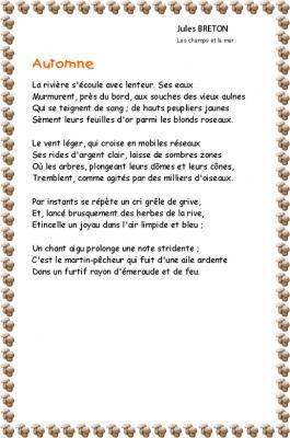 Poésie : automne de Jules Breton