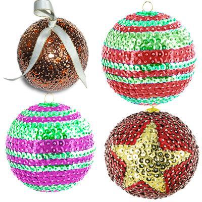 Fabrication De Boule De Noel En Polystyrene.Boules De Noël à Paillettes Sur Tête à Modeler
