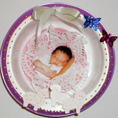 Faire un cadre pour bébé avec l'emballage blédichef
