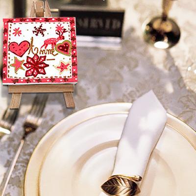 Chevalet marque-place de Noël