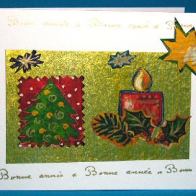 carte de voeux décorée de motifs de papier cadeau
