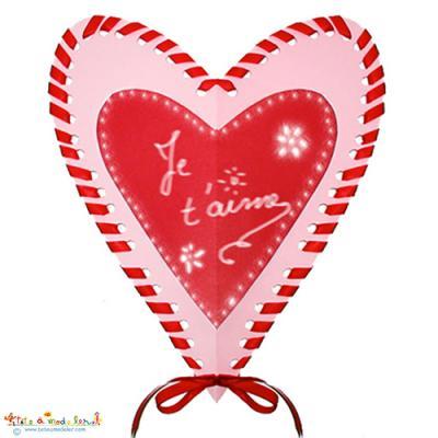 carte coeur fête des mères Carte coeur piqué pour la fête des mères   fête des mères Tête à