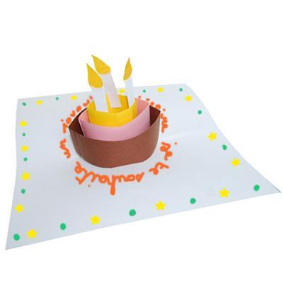 carte pop-up : gateau anniversaire