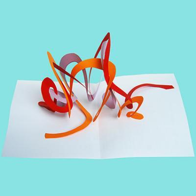 carte pop up sculpture papier 3D