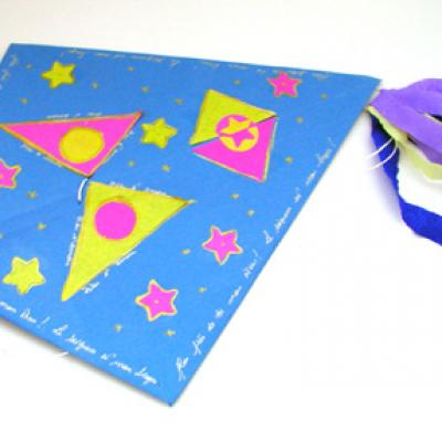 cerf-volant en papier