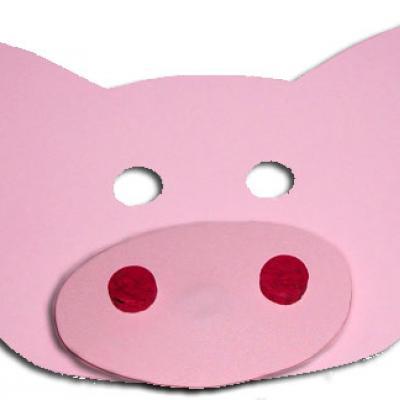 Explications pour réaliser un masque de cochon