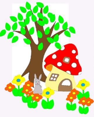Collage des tous petits maison champignon