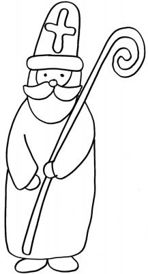Coloriages naïfs de Saint Nicolas