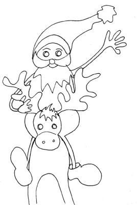 Imprimer des Coloriages du Père Noël rigolo