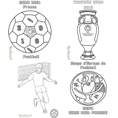 Coloriage des footballeurs