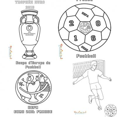 Coloriages EURO 2016 en France