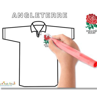Coloriage des maillots de la coupe du monde de Rugby
