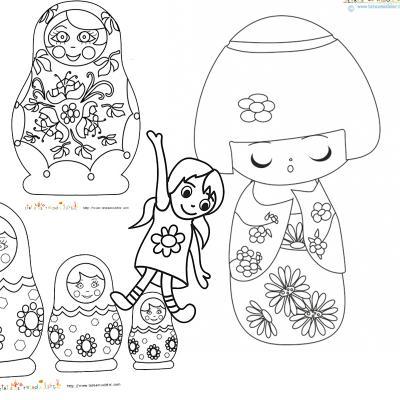 Coloriage de poupées