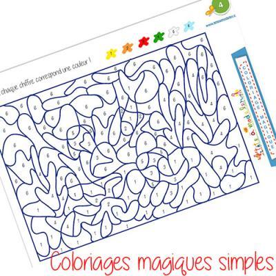Coloriages magiques simples