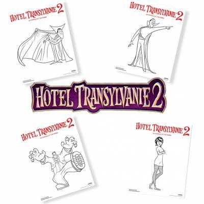 """En avant pour de monstrueux coloriages ! Retrouvez les coloriages des personnages du film """"Transylvanie 2"""" au cinéma en 3D le 7 octobre 2015. Retrouvez les coloriages de Dracula, de Frank et de Mavis."""