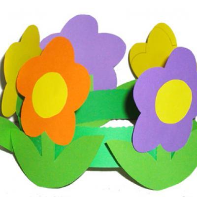 Explications pours réaliser une couronne grosses fleurs en papier