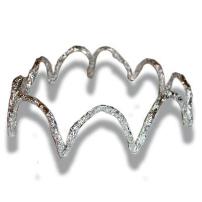 couronne argent en papier d'alluminium