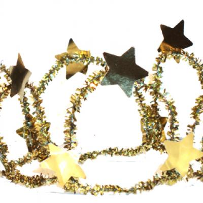 Explication pour fabriquer une couronne aux étoiles pour les déguisements