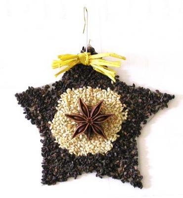 décoration sapin de Noël naturelle