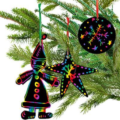 Faire des décoration de Noël en carte à gratter