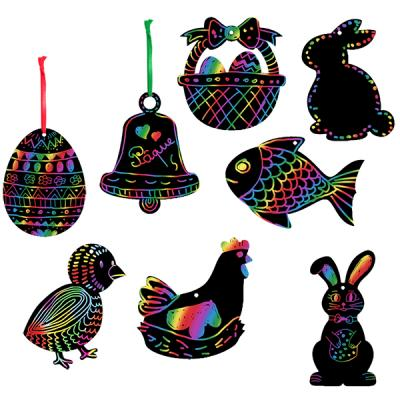 Décorations de Pâques en carte à gratter