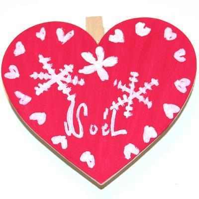 Décoration de Noël en forme de coeur