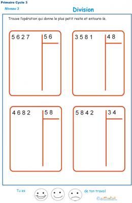 Divisions à deux chiffres - division euclidienne exercice 6