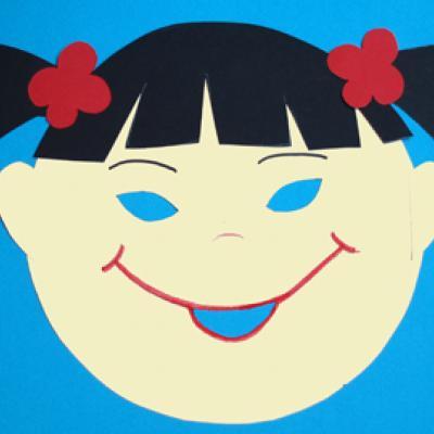 Fabriquer un masque fille japonaise pour découvrir les enfants du monde