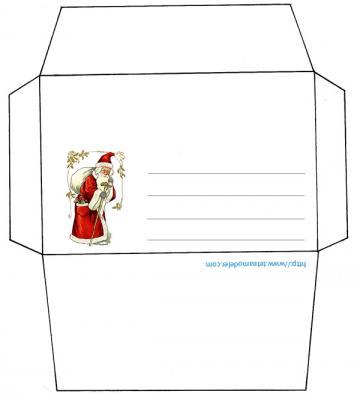 Enveloppe  pere Noël
