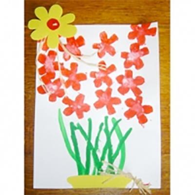 Peinture De Fleurs Pour La Fête Des Mères Tête à Modeler