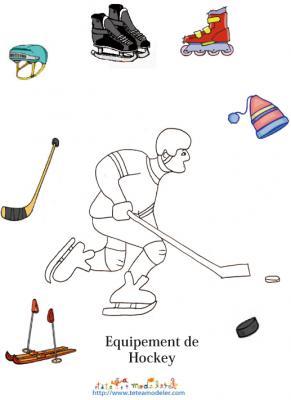 Imprimer un Jeu sur l'equipement hockey