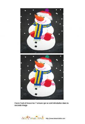 jeu des erreurs sur l'hiver