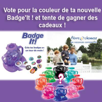 Vote pour la couleur de ta nouvelle Badge'It !