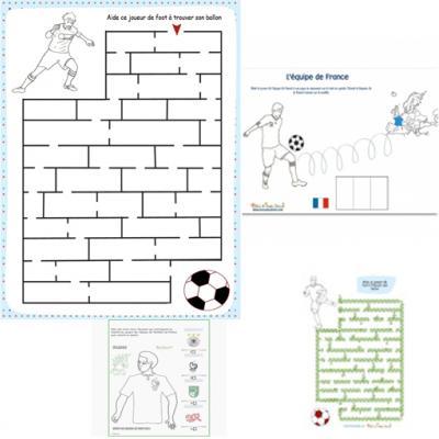 Coupe d'Europe de Football : Jeux à imprimer