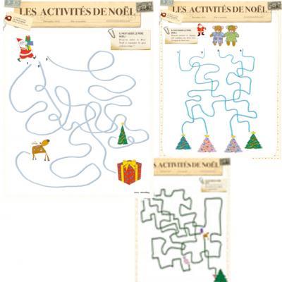 Jeux de fils mêlés de Noël