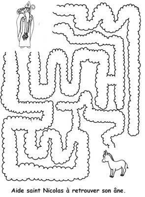 Imprimer des labyrinthes de saint nicolas