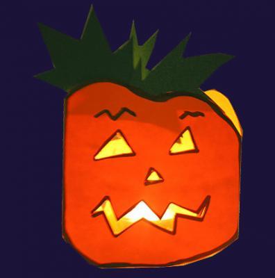 Lampion citrouille d'Halloween