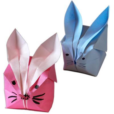Lapin boule origami